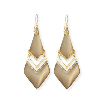 Chevron Lucite Drop Earrings - Alexis Bittar
