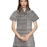 Edie Houndstooth Shift Dress