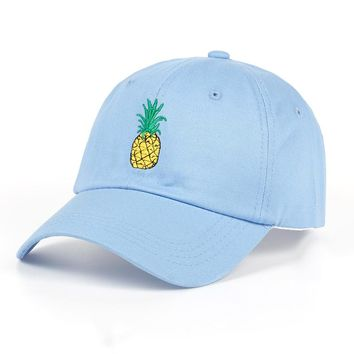 TUNICA Pineapple Embroidery Baseball Cap Cotton 100% Hipster Hat Fruit Pineapple Dad Hat Hip Hop Cotton Snapback Cap hats