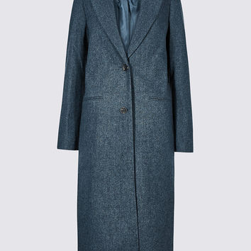 Textured Longline Overcoat | M&S Collection | M&S