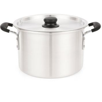 IMUSA 8-Quart Stock Pot with Lid and Soft-Touch Handles - Walmart.com