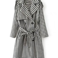 Monochrome Gingham LTrench Coats