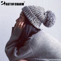 2016 New Fashion Toucas Beanie Touca Hat Knit Winter Hat For Women Skullies Beanies For Women Spring Hat De Inverno Gorros