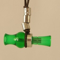 KillerKallz Working Mini Wood Duck Call Necklace (Green)