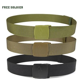 outdoor camping hiking climbing tank lines low-key tactical belt Nylon tactical military fans belt men's belt