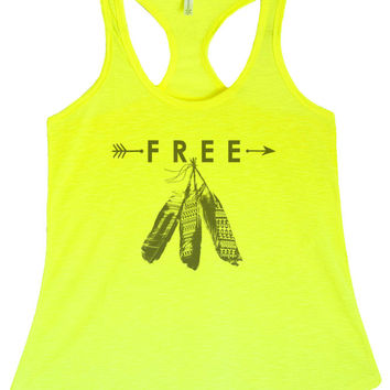 Women's Regular Free Feather Graphic Print Polyester Tank Top