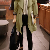 Slouchy Army Green Coat