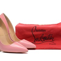 Christian Louboutin Pink Patent Leather High Heels 120mm