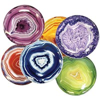 Agate Ceramic Party Plates - Set of 6