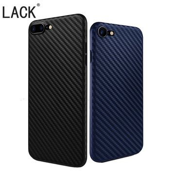 LACK Phone Cases Fashion Carbon Fiber case For iPhone 6 Coque Fundas shell For iphone6 6S Plus Newest Slim Soft Phone Cover Capa