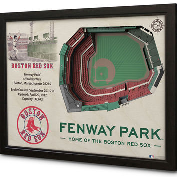 MLB Boston Red Sox Baseball 3D Stadium View Wall Art Fenway Park