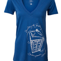 Something Blue V-Neck Fitted Ladies' Tee