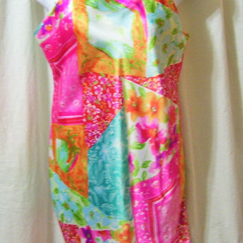 Bright, Liquid Satin, Short Baby Doll, Sexy Night Gown, Size XL, Multi Colors, Victoria Secret, Bridal Honeymoon, Resort Cruise Wear