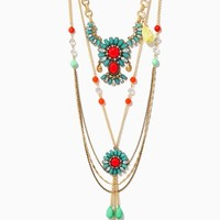 Deco Tassel Layer Necklace | Fashion Jewelry - Icon | charming charlie