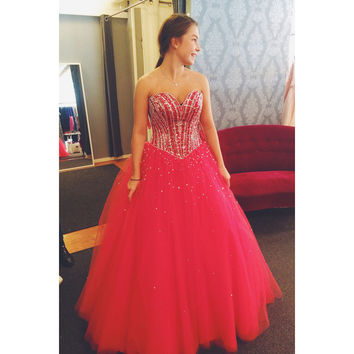 Beaded Quinceanera Dress Ball Gown Graduation Party Dresses pst1213