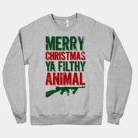 Merry Christmas Ya Filthy Animal (Sweater) | HUMAN