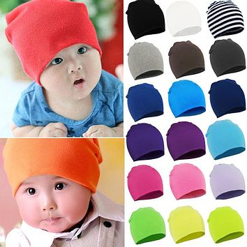 Spring New Unisex Baby Boy Girl Kids Toddler Infant colorful Cotton Soft Cute Hats Cap Beanie