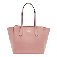 Gucci Women's Swing Tote Small Light Pink Leather 354408