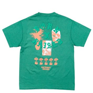 BornxRaised - Gateway Drugs Tee - Green Spruce