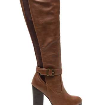 Chunky Factor Faux Leather Lug Boots