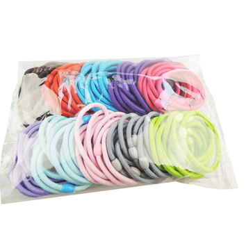 Essential Baby girl children hair band hair accessory black plus velvet hair rope colorful headband mix candy color 624