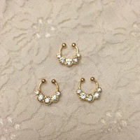 Bianca Fake Septum Ring in Gold