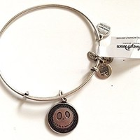 Disney Parks Alex and Ani Jack Skellington Silver Tone Charm Bangle Bracelet