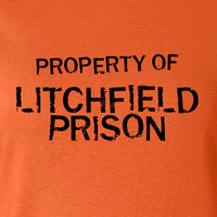 Property of Litchfield Prison Penitentiary T-shirt Inspired 50s 60s 70s T-shirt tee Shirt TV show swag Hot Funny Mens Ladies MLG-1096