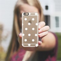 white polka dots iPhone 6 case by Marianna Tankelevich | Casetify