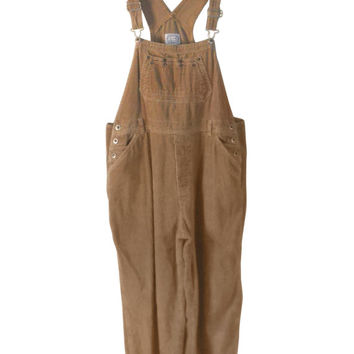 f7cc82c36b62 Plus Size Overall XL Overall Corduroy Overall Women Bib Overall Brown  Overall 90s Over
