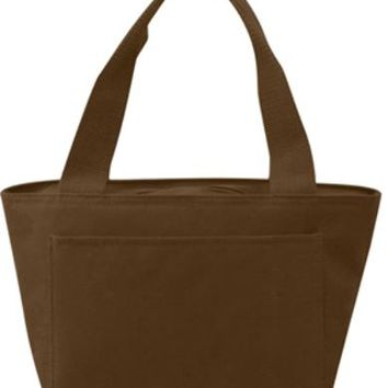 Insulated Cooler Tote Lunch Bag (Brown) - CASE OF 24