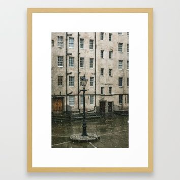 Lamppost and the Falling Snow Art Print by Errne