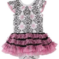 Vitamins Baby Baby-Girls Infant Damask Print Creeper Set