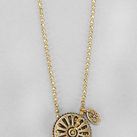 Union Double Sprocket Necklace - Urban Outfitters
