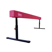 8ft 14in-24in Pink Adjustable Balance Beam for Gymnastics by Nimble Sports