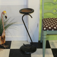 Vintage Metal Ashtray Stand or Fun Plant Stand . Mid Century Decor
