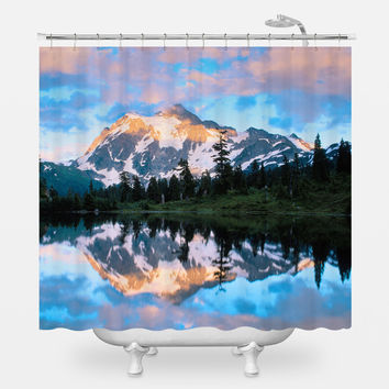 Mount Shuksan Shower Curtain