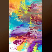 Abstract Modern Canvas Art Painting 36 Original by wostudios