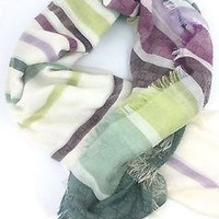 Gucci Women's Green Striped Scarf 393979