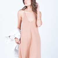Flowy Knit Cami Dress