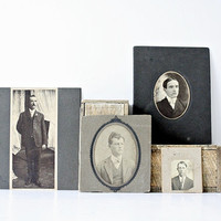 The League of Extraordinary Gentlemen - Large Vintage 1900's to 1930's Large Photograph Portraits - Shabby Chic Home Decor, Elegant Menswear