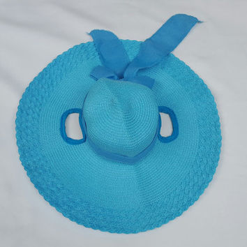 Turquoise Floppy Brim Hat for Horses - Sun Hat for Horse - Horse Costume- Easter Hat