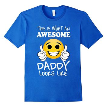 Mens Daddy gifts from son wife for fathers day tee emojicon shirt