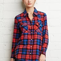 Tartan Plaid Snap-Button Shirt