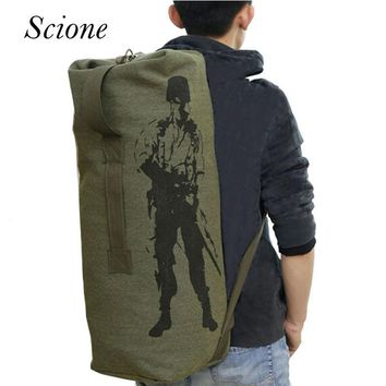 Fashion 2017 Travel Luggage Army Men Military Backpack Canvas Backpack Rucksack mochila Laptop Bolsa High Quality Li301