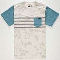 O'neill Dozer Mens Pocket Tee Blue  In Sizes