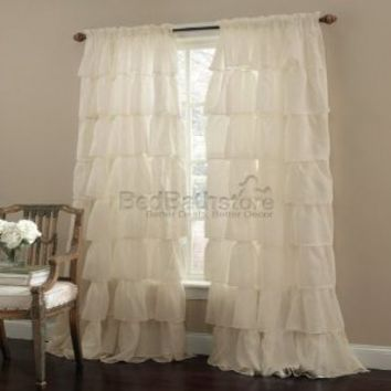 "Gypsy Ruffled Panel Cream 84""x60"""