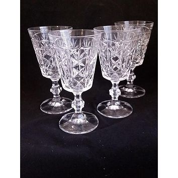 Goblets Crystal Clear Water, Juice Glasses  S/4