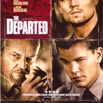 The Departed Movie Poster 27x40	  Used Jack Nicholson Matt Damon Leonardo DiCaprio Alec Baldwin Martin Sheen Mark Wahlberg