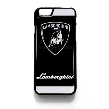 Lamborghini Black And Silver Gliter Logo for iPhone 4 4S 5 5S 5C 6 6 Plus , iPod Touch 4 5  , Samsung Galaxy S3 S4 S5 Note 3 Note 4 , and HTC One X M7 M8 Case Cover